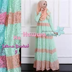 Aiwa Salur Dress Hijaber Gamis Pashmina hawwa aiwa fashion butiq laman 2