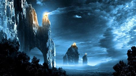 wallpaper blue fantasy lord of the rings backgrounds wallpaper cave