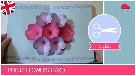 fiori pop up s day greeting card with pop up flowers diy ideas