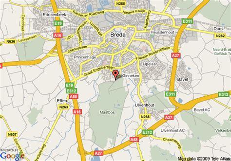 breda netherlands map map of golden tulip mastbosch hotel breda breda
