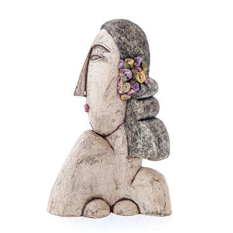 Handmade Sculptures - bust sculpture handmade ceramic