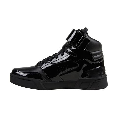best leather sneakers radii segment mens black patent leather high top lace up