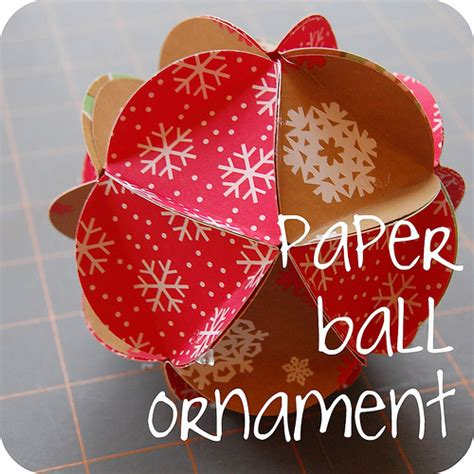 maker mama craft blog paper ball ornament tutorial