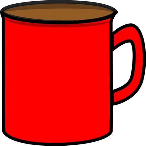 cartoon coffee mug red mug clip art at clker com vector clip art online