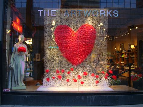 valentines day window flower shop window displays stunning valentine s window
