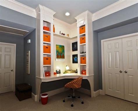 Built In Corner Desk Ideas Built In Bookshelf Corner Desk Design Pictures Remodel Decor And Ideas Page 3 House
