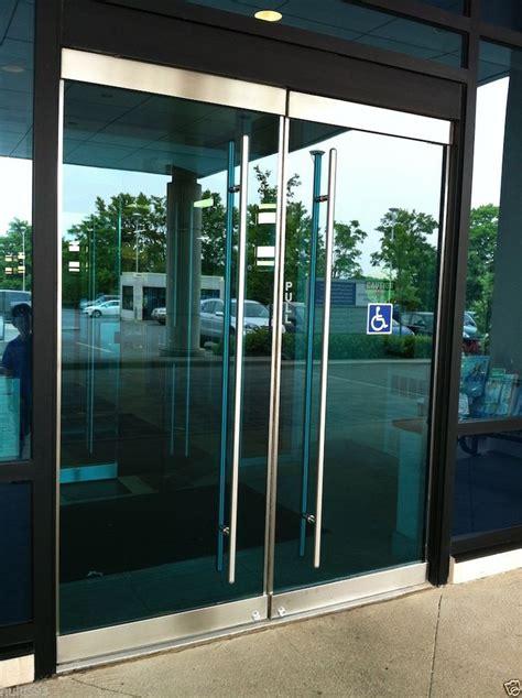 glass office entrance doors stainless steel entry entrance store front frameless glass