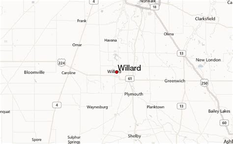 willard ohio map willard location guide