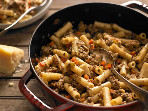 Kitchen Recipes Rigatoni With White Bolognese Recipe Nyt Cooking