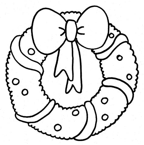 wreath bow coloring page search results for christmas wreaths coloring pages