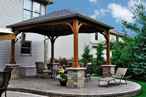 covered gazebo pavilion covered patio in strongsville moscarino