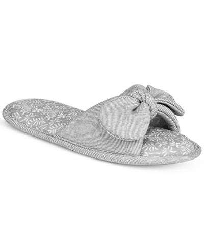 macys womens house slippers charter club s open toe bow fashion slippers only