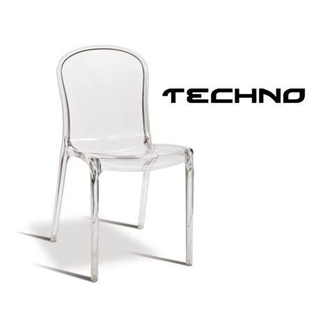 chaise transparente plastique techno structure polycarbonate