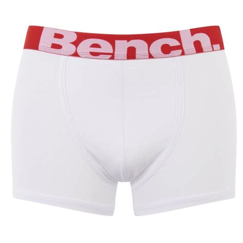 bench mens underwear bench men s 3 pack large logo band boxers red black