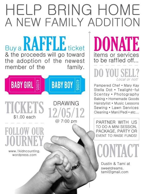 adoption flyer template fundraiser raffle flyer search fundraiser ideas