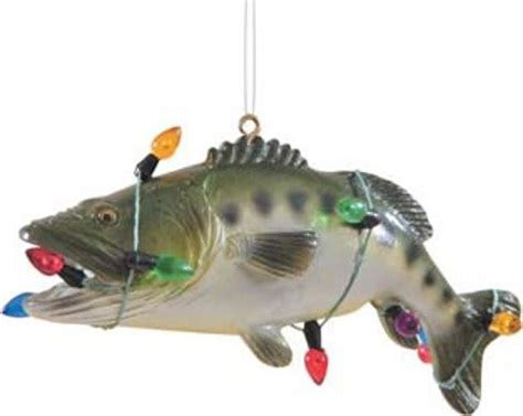 holiday bass fish christmas ornament 4 5 quot x 1 75 quot