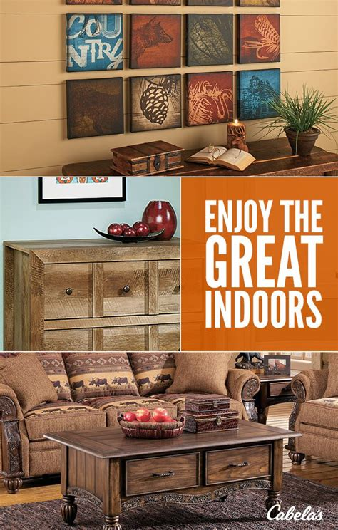 bring the great outdoors to you with cabela s home cabin 180 best images about places to shop on pinterest garden