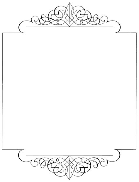 Bordir Elegan White page borders black and white pictures to pin on