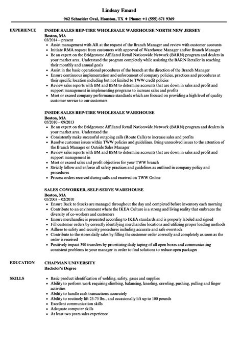 Warehouse Resume Sle by Warehouse Resumes Sles 28 Images Warehouse Specialist
