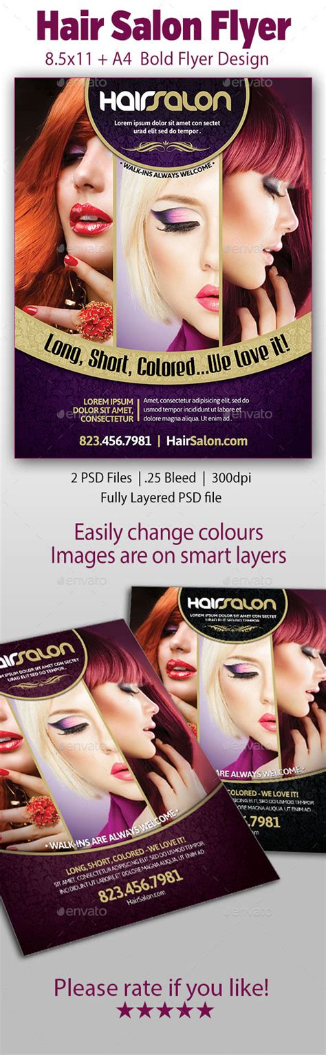 hair salon flyer 171 free file designer
