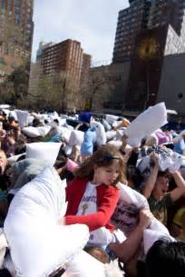 pictures from the 2010 pillow fight in union square