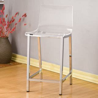 decor clear acrylic counter stool set of 2 set of