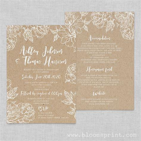 invitaciones para bodas papel kraft tubodamovil invitaciones de boda en papel kraft de bodas originales para novias con estilo