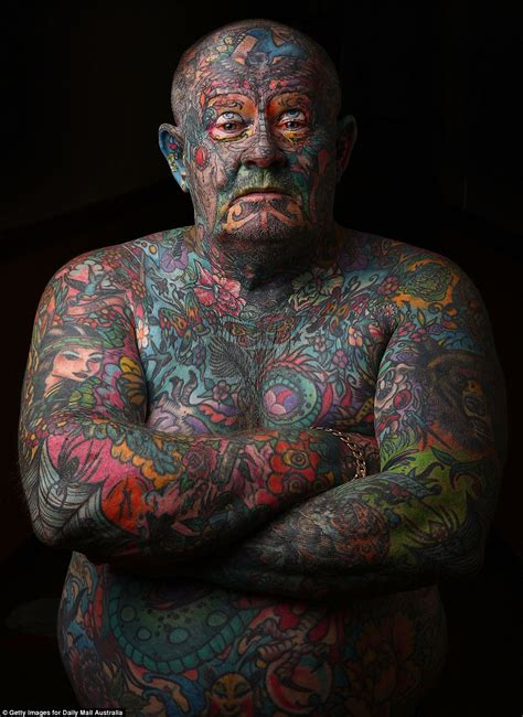 guy covered in tattoos melbourne covers every inch of his in tattoos