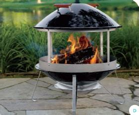 weber wood burning fireplace patio heater review