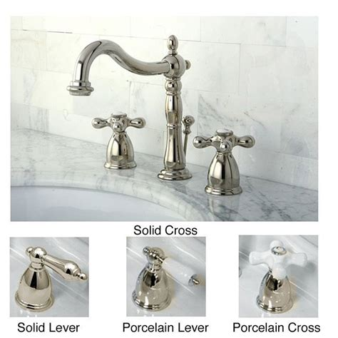 polished nickel widespread bathroom faucet