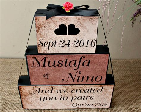 Wooden Poster Islamic Quote we created you in pairs qur an quote personalized muslim wedding wooden gift bridal shower
