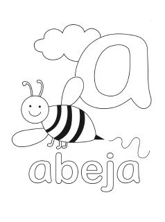 abc coloring pages in spanish spanish alphabet coloring pages mr printables