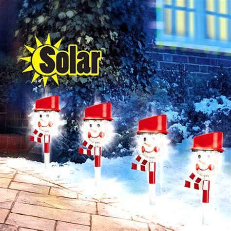 solar snowman lights solar snowman path light