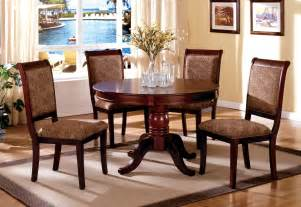 st nicholas ii antique cherry round pedestal dining room set from furniture of america