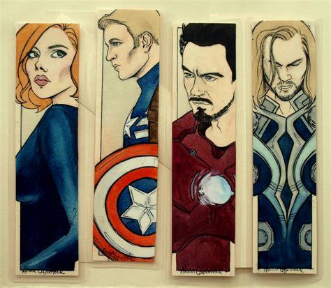 printable bookmarks marvel avengers bookmarks by unpredictablegirl on deviantart