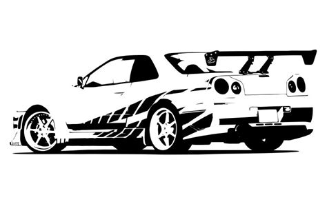 nissan skyline drawing 2 fast 2 furious fast and furious skyline drawing pictures to pin on