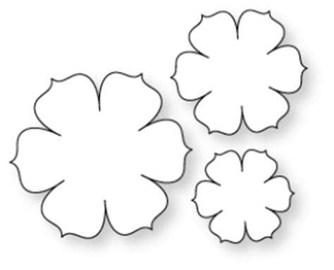 paper flower template 3d papertrey ink beautiful blooms ii 1 die collection set
