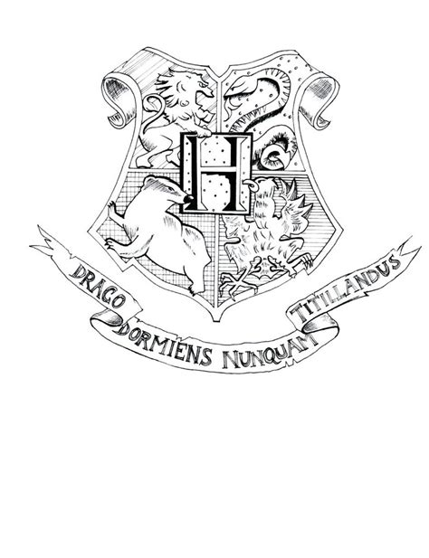 harry potter hogwarts crest coloring pages coloring pages