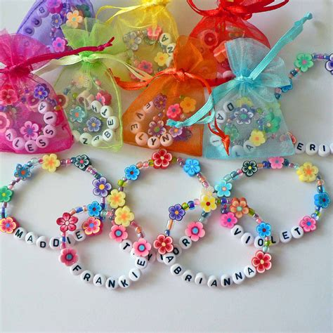 Personalized Birthday Decorations by Personalized Luau Favors Flower Bracelets