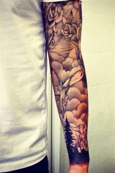 cloud and rose tattoos ink tattoos tattoos sleeve tattoos