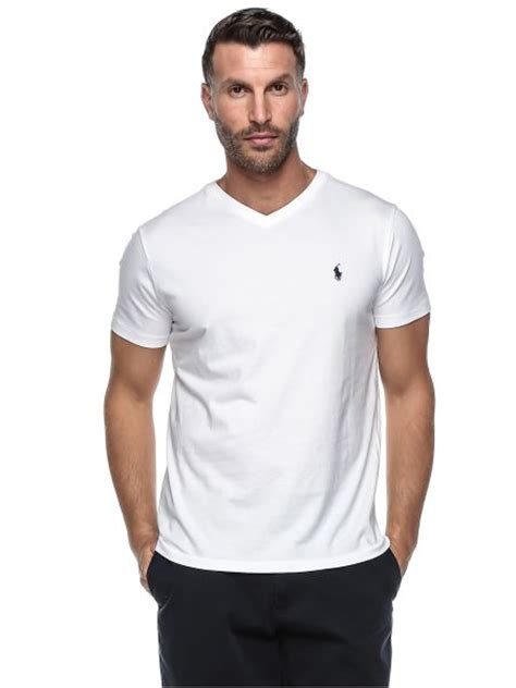 Set Mini White Polo Tshirt Collar Jeanssetelan Kemeja Putih polo ralph s classic fit v neck t shirt small white price review and buy in uae