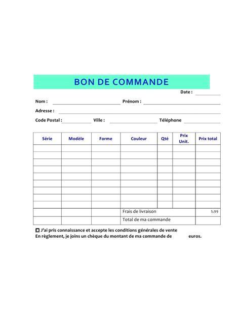 Modele Bon De Commande Pdf