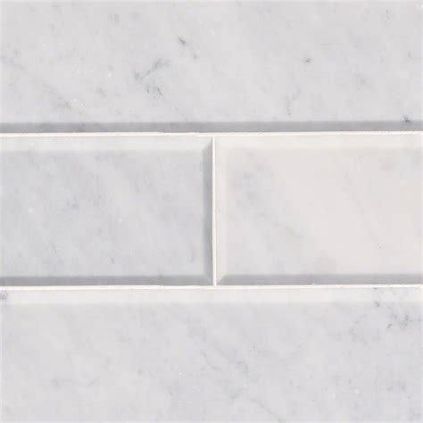 arabescato carrara honed and big beveled threshold white