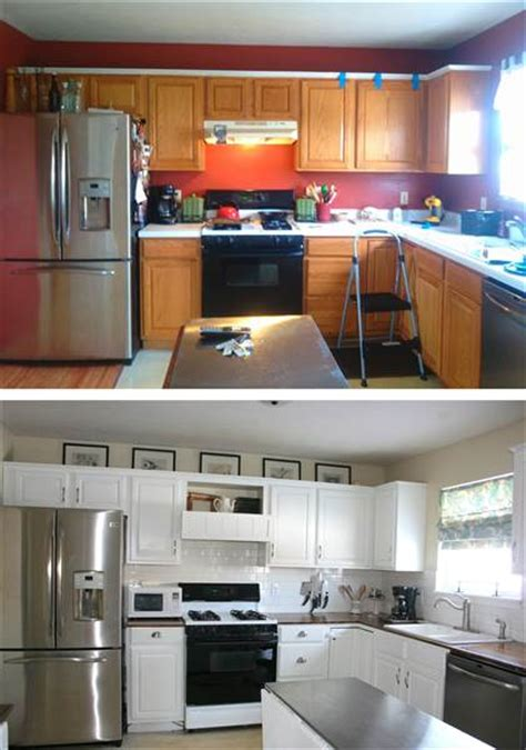 easy kitchen makeover ideas see what this kitchen looks like after an 800 diy