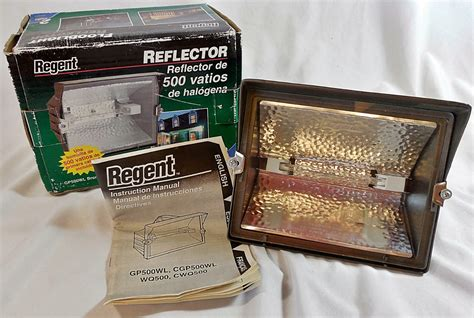 500 watt quartz regent floodlight reflector gl500wl bronze 500 watt