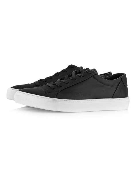 black leather tennis shoes fancydan