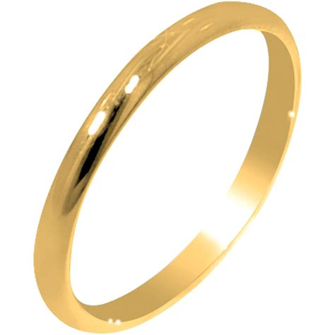 A Gold Ring by Children Plain Ring In 10kt Yellow Gold