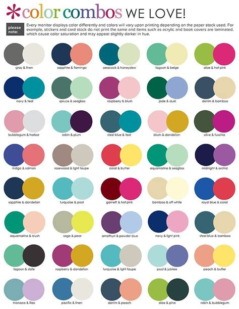 colour inspiration image result for suggested color combinations erin condren