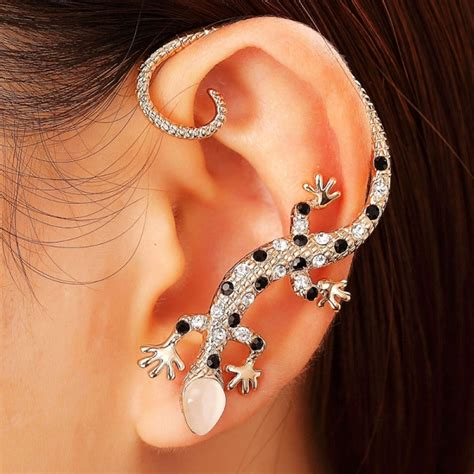 how to make ear wrap jewelry gecko ear wrap earrings cartilage wrap earrings gecko