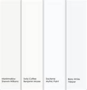paint companies shades of white and white on